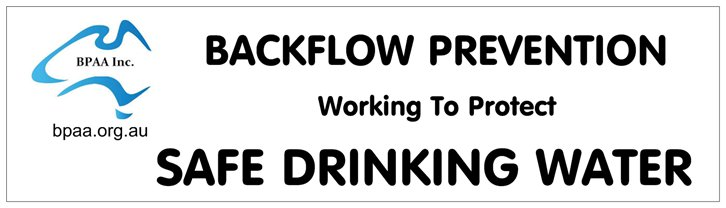 Backflow Prevention working to protect safe drinking water